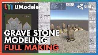 UModeler 2.0 Tutorial - Grave Stone Modeling
