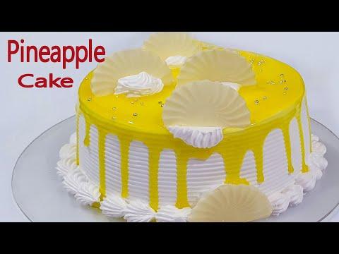 pineapple-cake-|-eggless-cake-recipe-|-homemade-pineapple-cake-eggless-&-without-oven
