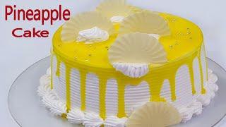 Pineapple Cake  Eggless Cake Recipe  Homemade Pineapple Cake Eggless &amp Without Oven