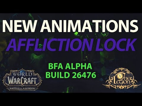 New Unstable Affliction and Shadowbolt Spell Animations - Battle for Azeroth Alpha