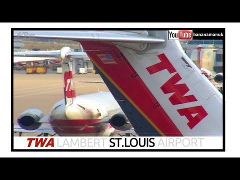 TWA - Trans World Airlines at Lambert St Louis Airport - Flying into History - DC9, 717, 757, Saab