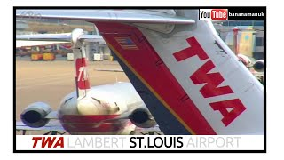 TWA - Trans World Airlines at Lambert St Louis Airport - Flying into History - DC9, 717, 757, Saab