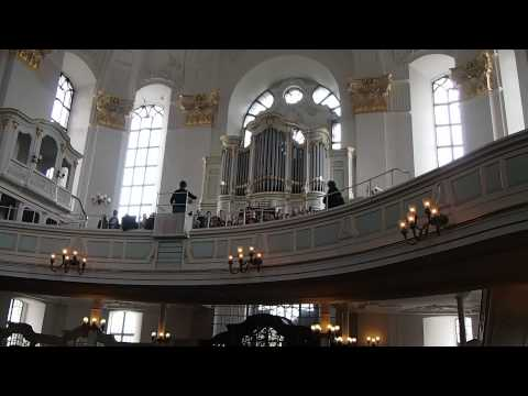 Melodious choir at St. Michaelis Church, Hamburg