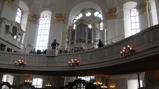 Melodious choir at St. Michaelis Church, Hamburg