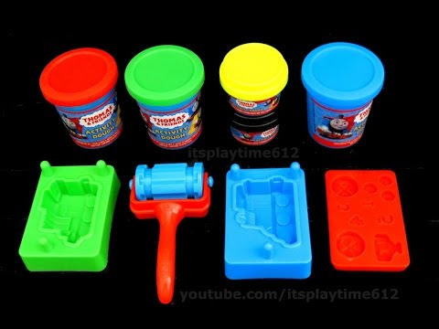 Unboxing Thomas and Friends Dough Engine Maker Learn Colors!!!