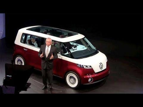 Volkswagen Microbus Bulli concept car debuts at the Geneva Auto