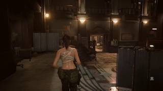 Resident Evil 2 Remake - Bandage Claire VS Beachboy Mr X Gameplay Mod