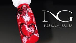 Красивый дизайн ногтей со стемпингом - Сердечко на ногтях / Valentine's Day Hearts Nails(В дизайне использовались следующие материалы: База/Топ/Клей ALL IN ONE NG Гель лак красный Trendy nails Гель паста..., 2017-02-10T15:39:38.000Z)
