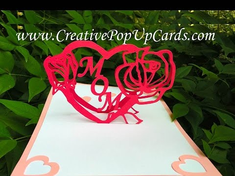 Mother's day Love Rose Pop Up Card Tutorial