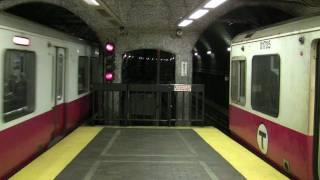 HD MBTA Red Line Trains in Park St. Part 2