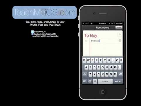 how to create custom reminders lists in iOS 6 and use siri to add
