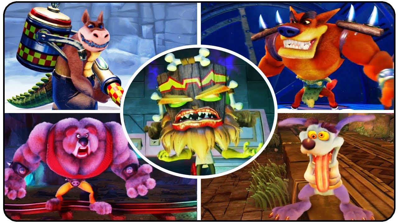 Crash Bandicoot N Sane Trilogy All Bosses YouTube