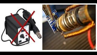 Чем заменить паяльный фен, замена разъёма USB