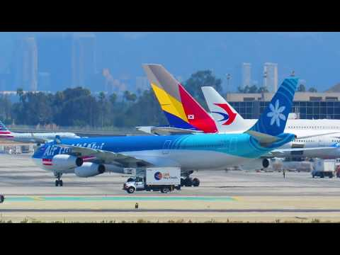 Spectacular Heavy Action! 20+ Minutes of Planespotting at Los Angeles