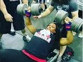 Female Powerlifter Presses 120lb Dumbbells! download for free at mp3prince.com