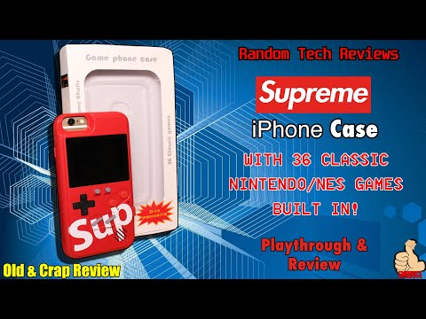 RANDOM TECH STUFF: The [SUPREME] IPhone Case With 36 NES GAMES BUILT IN! - Practical Or Novelty?