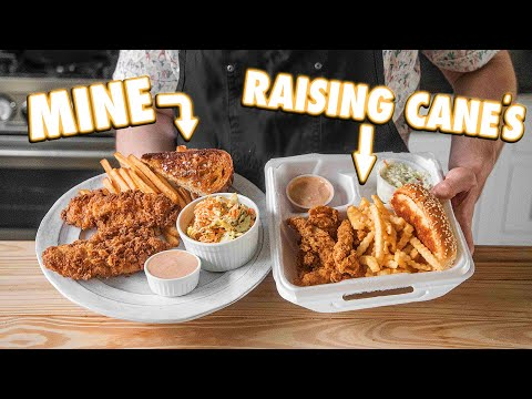 Making Raising Cane's Chicken Finger Combo At Home | But Better
