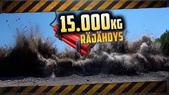 15000kg räjähdys!! Jättimäinen kallio räjähtää.