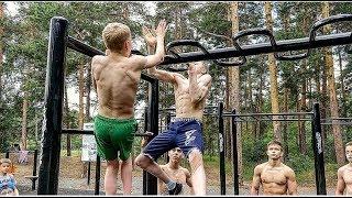 видео: НОВЫЙ ЧЕЛЛЕНДЖ С ПОДТЯГИВАНИЯМИ. Тренировка гимнастов на workout-площадке