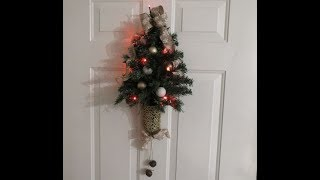 Tricia's Creations: Dollar Tree Mini Christmas Tree Wall Decor
