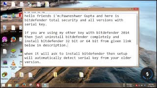 Bitdefender Total Security 2016 Keys for 1 year all versions
