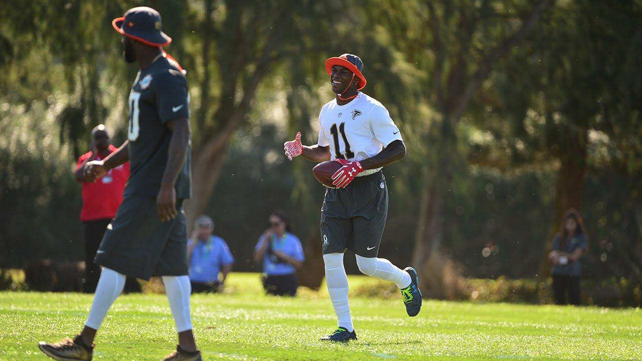 more photos 0a1d0 86662 Julio Jones Mic'd Up at Pro Bowl Practice   NFL Fan Pass