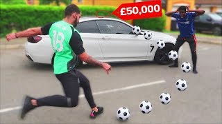 Kicking A Football At EVERYTHING I Touch - Challenge