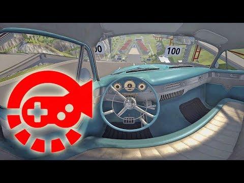 360° Video - Car Jump Arena, Part #2, BeamNG.drive