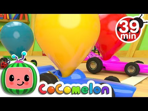 Toy Balloon Car Race  + More Nursery Rhymes & Kids Songs  ABCkidTV