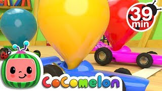 Toy Balloon Car Race + More Nursery Rhymes & Kids Songs - CoComelon