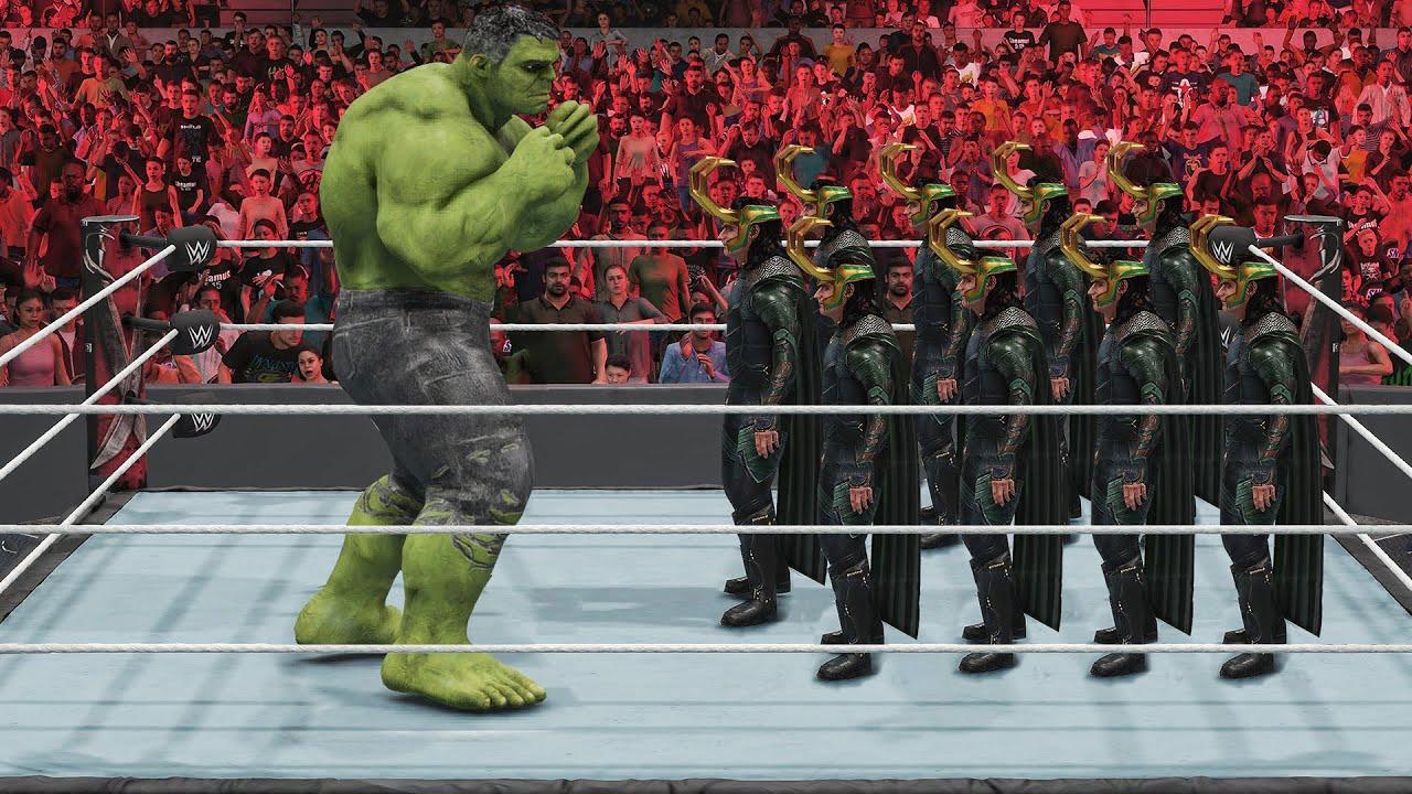 100 Finishers to Giant Hulk By Loki! (WWE 2K)