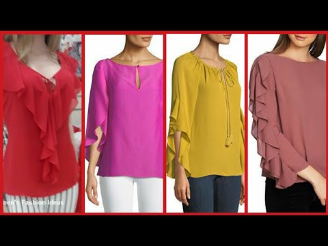 Top Designs For Blouses// Beautyful Stylish Short Shirts Designs