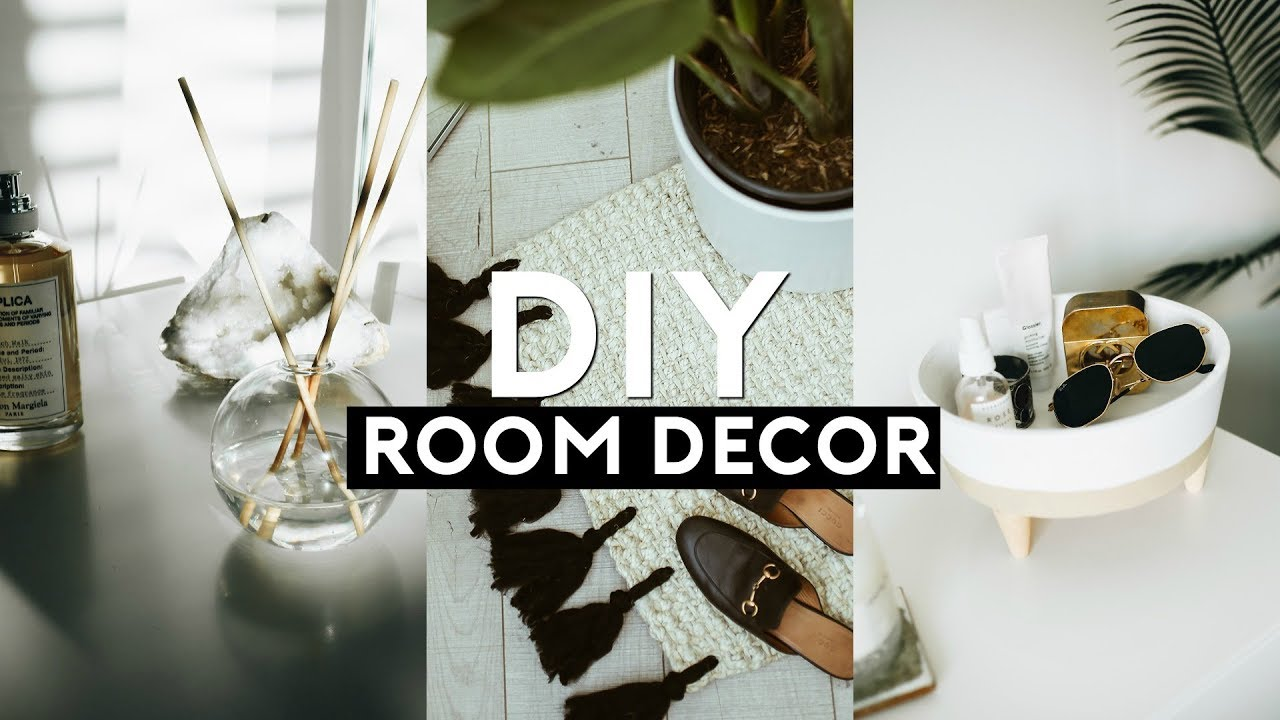 Diy Tumblr Room Decor Minimal Trendy 2018 Nastazsa Youtube