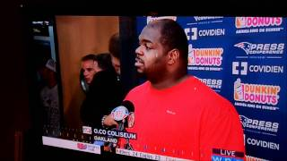 Tom Brady disrupting Vince Wilfork's press conference 10/2/2011