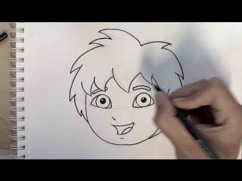 Cómo dibujar a Diego ( Go Diego Go ) de Dora la Exploradora ...