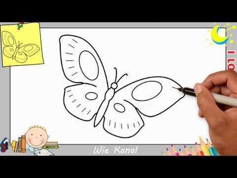 schmetterling zeichnen lernen einfach schritt für schritt für anfänger  kinder 7 - youtube
