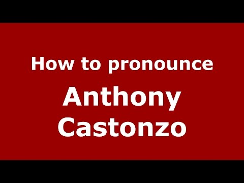How to pronounce Anthony Castonzo (American English/US)  - PronounceNames.com