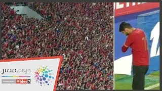جماهير الأهلي تهتف لابنة إكرامي في النهائي الأفريقى