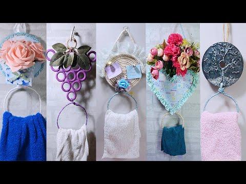 5 IDEAS HANGING RING TOWEL HOLDER!