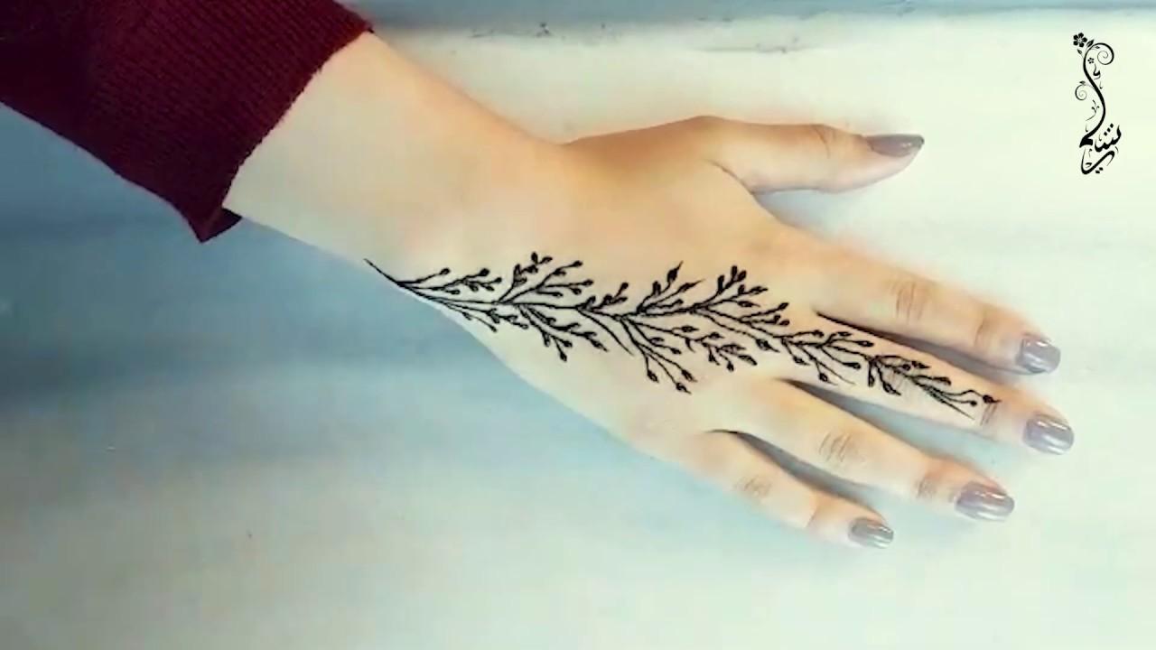 نقشة حنا أنثوية وناعمة Easy Girly Henna Tattoo Youtube