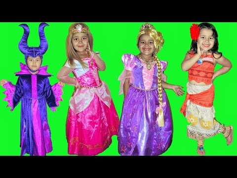 Thumbnail: 10 Halloween Costumes Disney Princess Aurora Moana Queen Elsa Maleficent Rapunzel