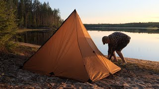 Overnight Camp at a Remote Sandy Beach - New Teepee Shelter Tested