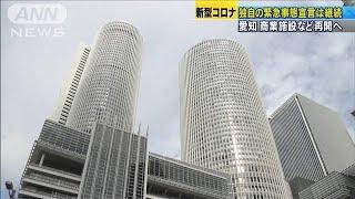 愛知 商業施設など再開へ 県独自の緊急事態は継続(20/05/15)