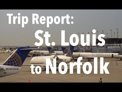 TRIP REPORT - United Airlines, St. Louis to Norfolk