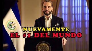 Presidente de El Salvador EL MEJOR EVALUADO DEL MUNDO otra vez