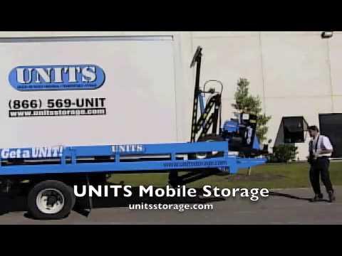 RoboUnit Unloads Mobile Storage Container UNIT YouTube