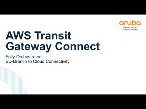 Demo of Aruba SD-Branch with AWS Transit Gateway Connect