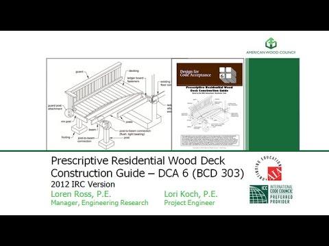 BCD303 - Design for Code Acceptance No. 6 - Prescriptive Residential Deck Construction Guide