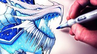 Let's Draw a SNOW DRAGON - FANTASY ART FRIDAY
