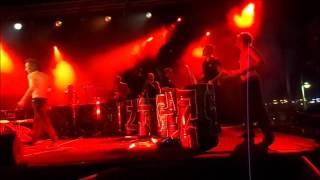 concert les Tambours du Bronx à Cavalaire juillet 2012